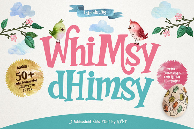 whimsy dhimsy fun font