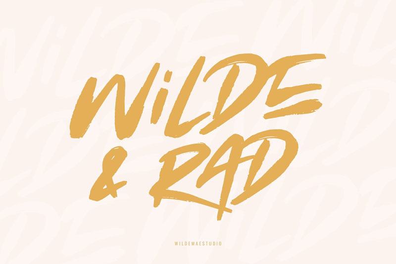 wilde-&-rad-brush horror and scary font