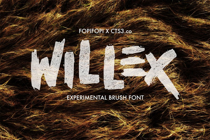 willex brush horror and scary font
