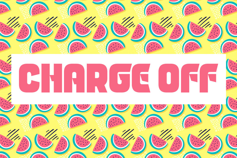 charge off 90s fonts