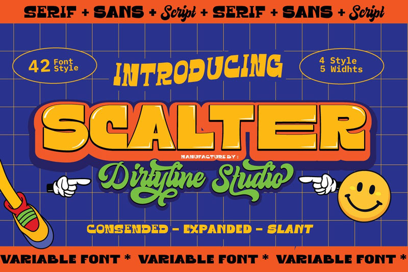 scalter 90s fonts