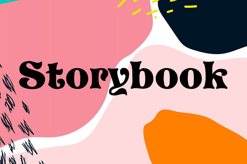 storybook 90s fonts