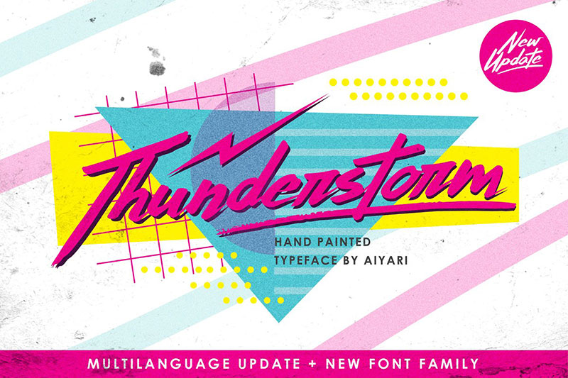 thunderstorm extras 90s fonts