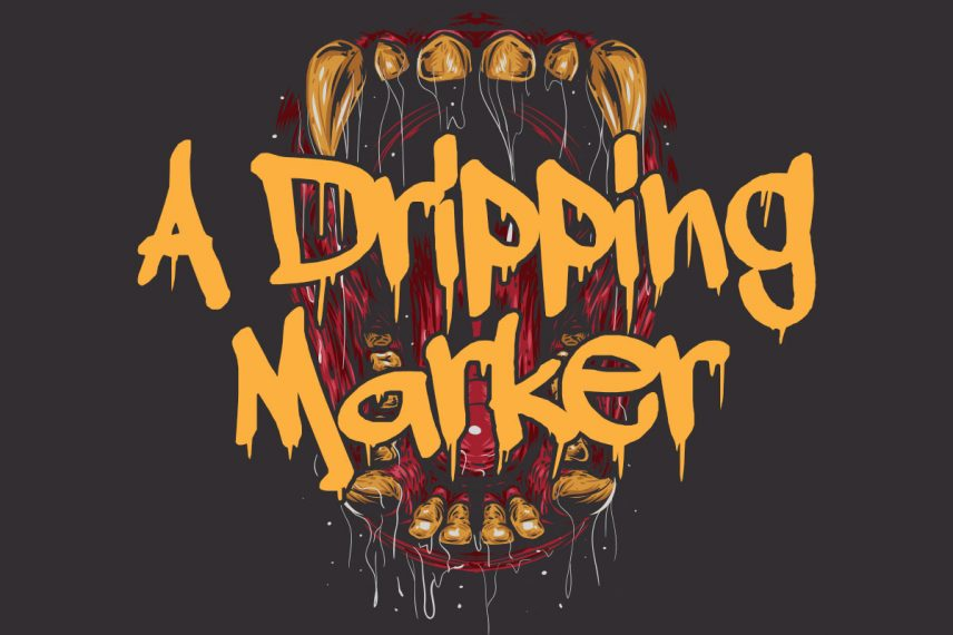 a dripping marker dripping font