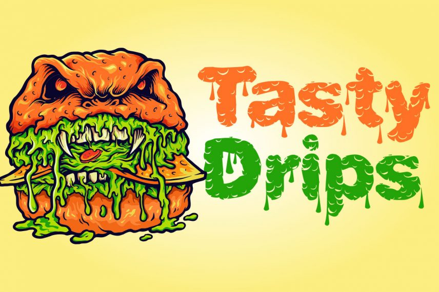 tasty drips dripping font
